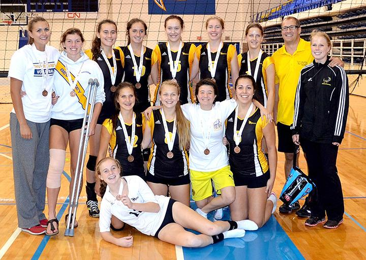 Quad A Girls Volleyball after their Bronze Medal Win