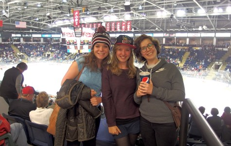 International Students Attend First Hockey Game Ever