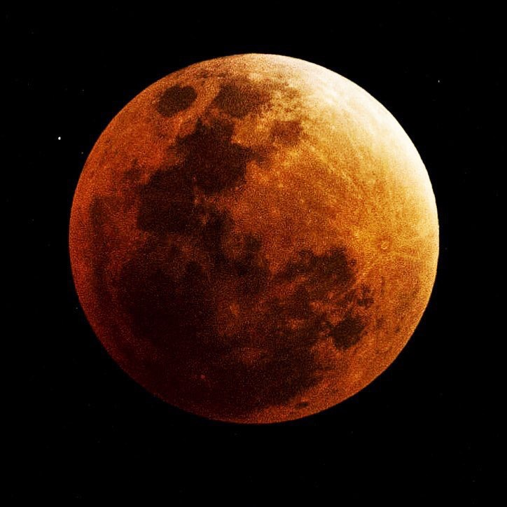 The blood moon as seen from the Bolivian Altiplano