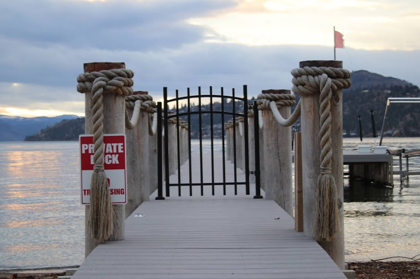 The people of Kelowna have an annual protest against beach obstructions. They go for a two-hour long walk along the sunny shoreline with signs and good spirits and intentions.