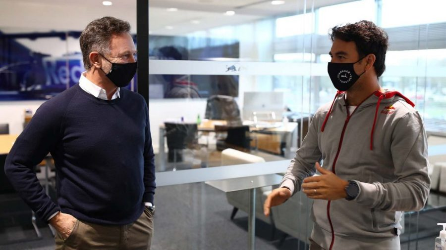 First Day at The Office For Sergio Perez